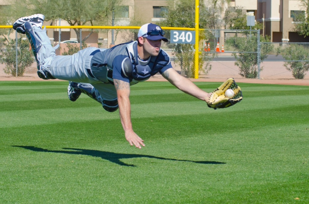 Padres prospect Cody Decker, in superhero pose (c/o Cody Decker)