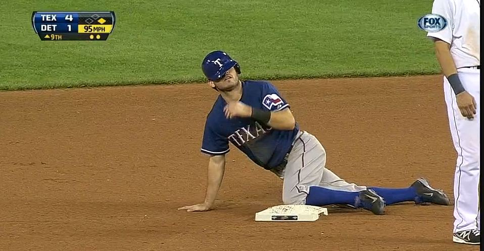 Ian Kinsler stealing his record-tying 162nd base (7/13/2013); click photo to see video