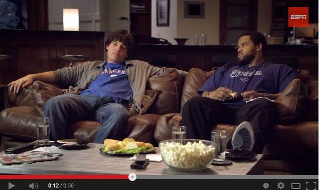 Ian Kinsler and Prince Fielder in a 2010 ad