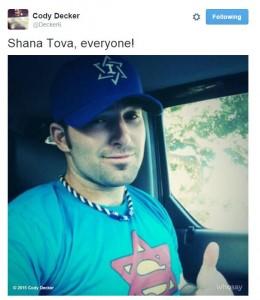 Decker's Rosh Hashanah tweet