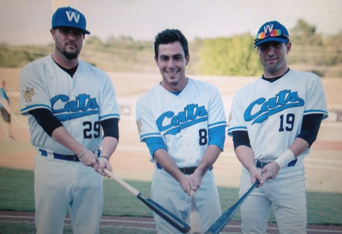 Three Jews on the Fort Worth Cats, 2014: Adam Kam, Ben Ruff, Ryan Lashley (L-R)