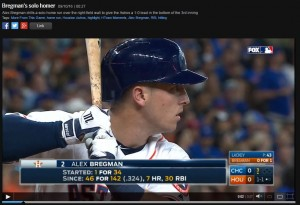 He didn't know it, but Alex Bregman was seconds away from hitting a historic home run