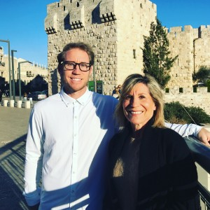 Ty Kelly and his mother Diane, who is Jewish, traveled to Israel in January 2017 with a group of Jewish-American ballplayers
