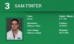 Sam Finfer's senior year at Marshall University upped his profile for the June 2017 MLB draft
