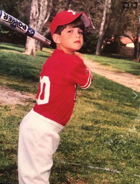 Robert Stock, future San Diego Padre, at age 6