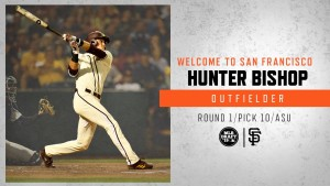 Hunter Bishop was the #10 overall pick in the 2019 MLB draft
