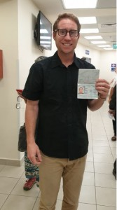 Kelly flashes his new Israeli passport